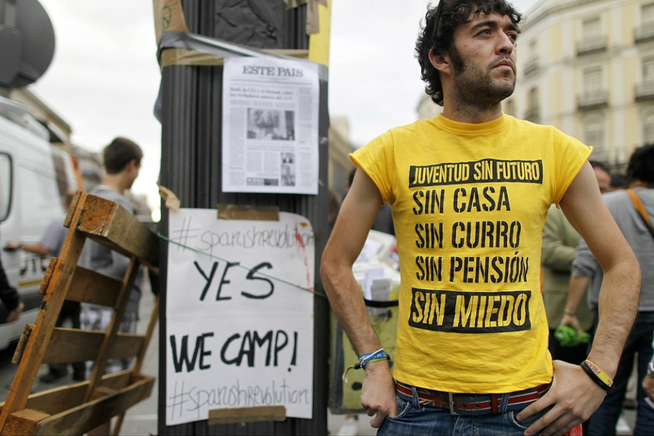 Manifestante de 'Juventud sin Futuro'