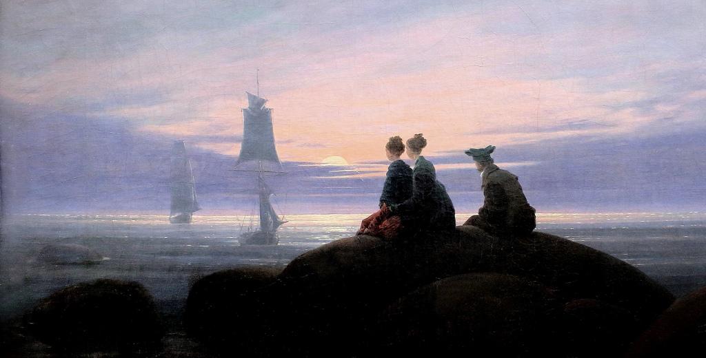C.D. Friedrich   La Luna saliendo a la orilla del mar