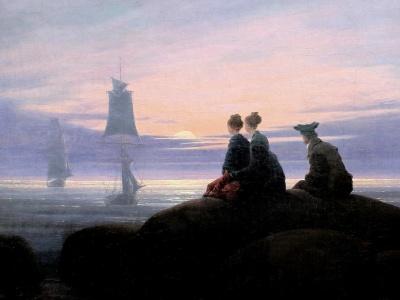 C.D. Friedrich | La Luna saliendo a la orilla del mar